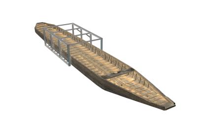 ZW2 meet 23 meter en wordt in 4 segmenten van 6 meter gerestaureerd. Voor elke segment wordt een restauratieframe gebouwd. In het Nat. Romeinse Scheepvaart Museum worden de 4 segmenten aan elkaar verbonden. Het buitenste frame dient om de segmenten te kunnen transporteren en zal na plaatsing in het museum worden verwijderd (reconstructie Echo tekst en presentatie).