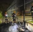 Scooter in brand in het Weteringpark