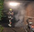 Diverse fietsen in brand gestoken